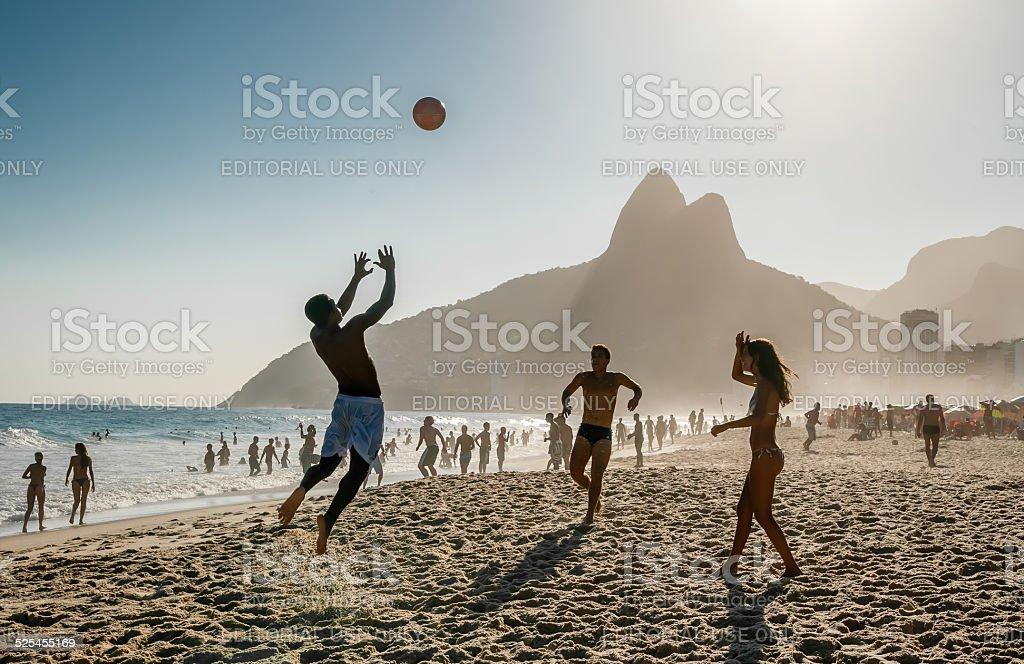 Rio De Janeiro. Ipanema beach. stock photo
