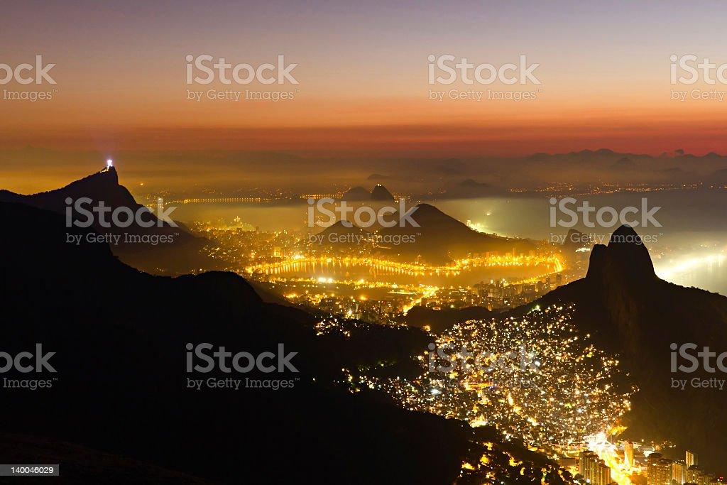 Rio de Janeiro landscape at dawn royalty-free stock photo