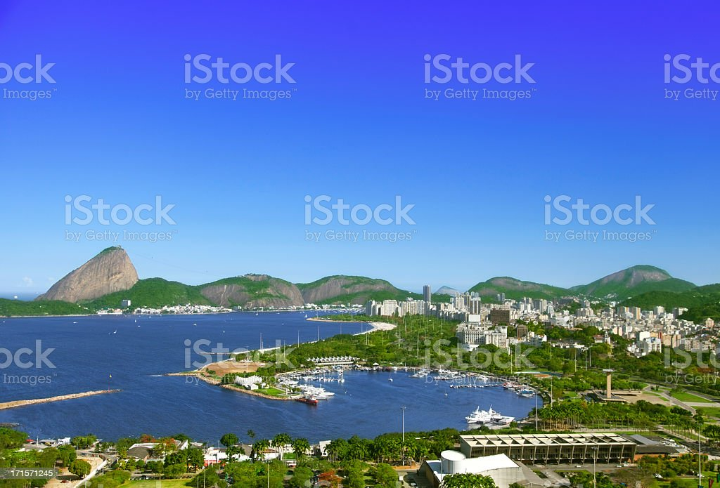 Rio de Janeiro Marina da Gloria stock photo