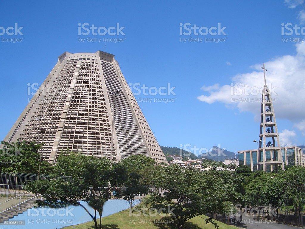 Rio de Janeiro Metropolitan Cathedral, Brazil stock photo