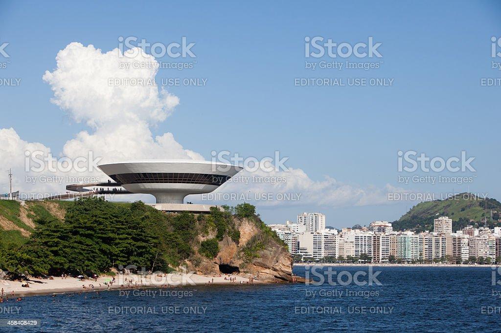 Rio de Janeiro. Niemeyer Contemporary Arts Museum in Niteroi stock photo
