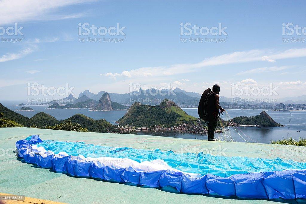 Rio de Janeiro, Paragliding royalty-free stock photo