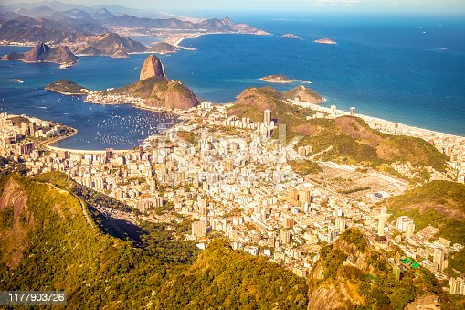 Sugarloaf and Botafogo district City of Niteroi in the background