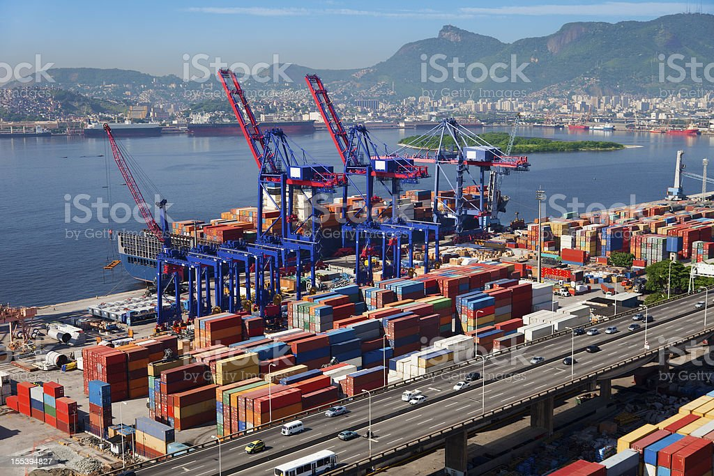 Rio de Janeiro Port royalty-free stock photo