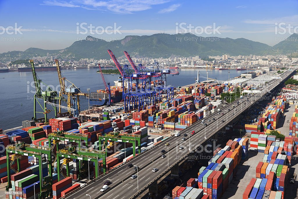 Rio de Janeiro Port royalty free stockfoto