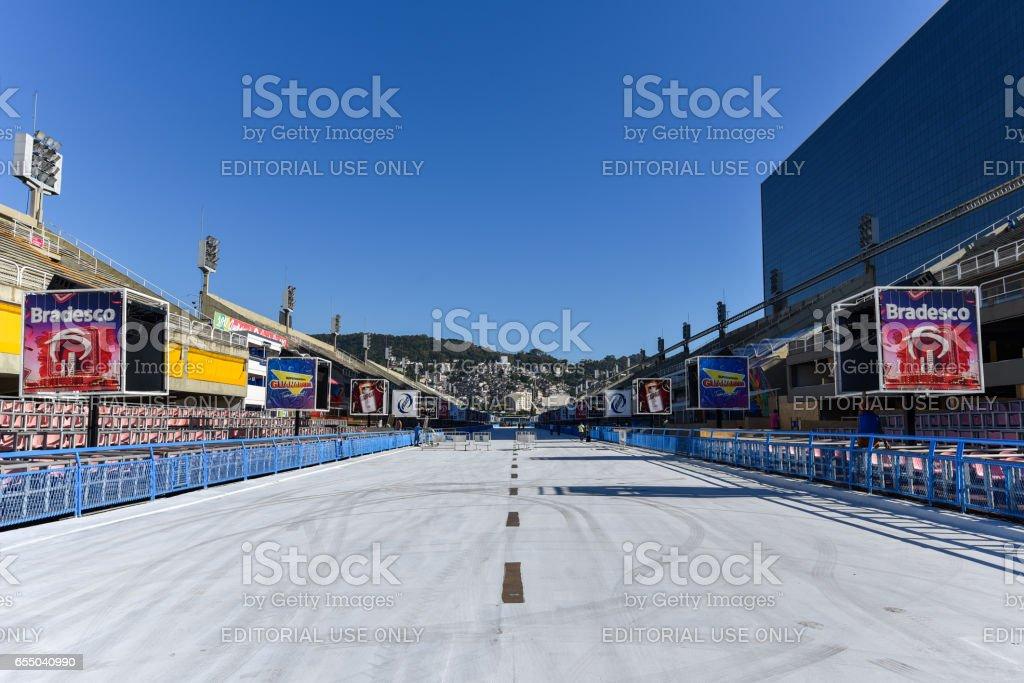 Rio de Janeiro Sambadrome stock photo