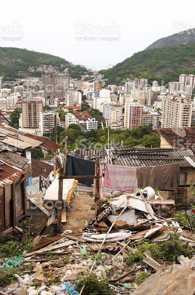 Rio de Janeiro seen from a slum, Brazil royalty-free stock photo