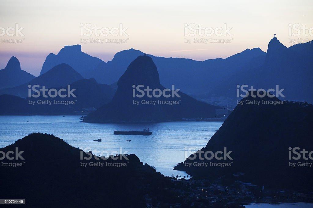 Rio de Janeiro seen from Niteroi City Park stock photo