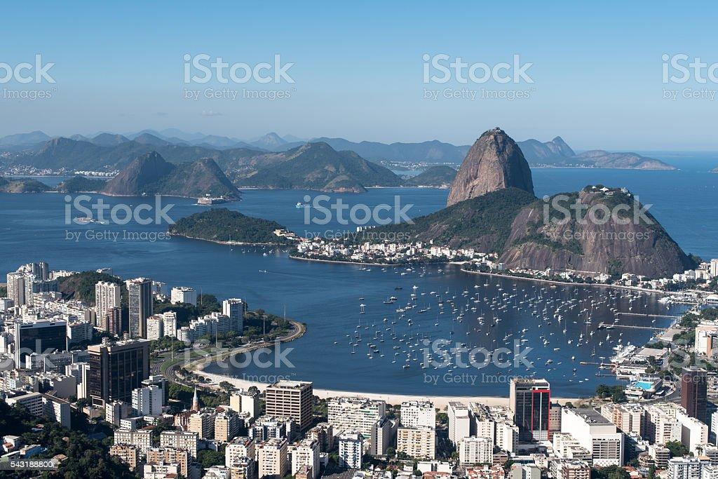 Rio de Janeiro Skyline with Sugarloaf Mountain stock photo