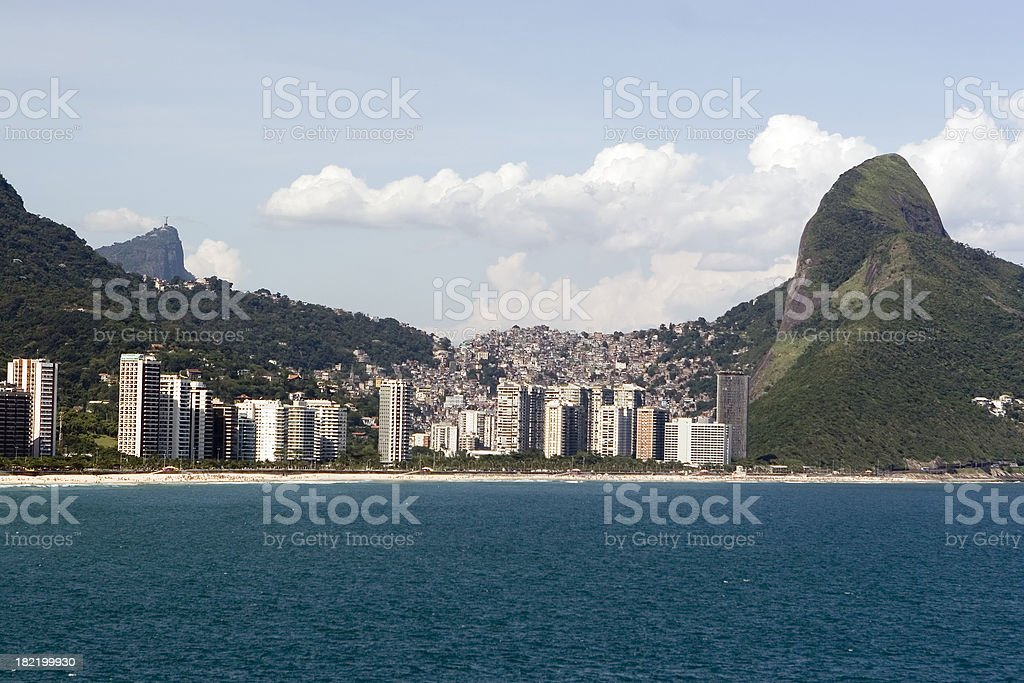 Rio de Janeiro, Slums and Upper Class. royalty-free stock photo