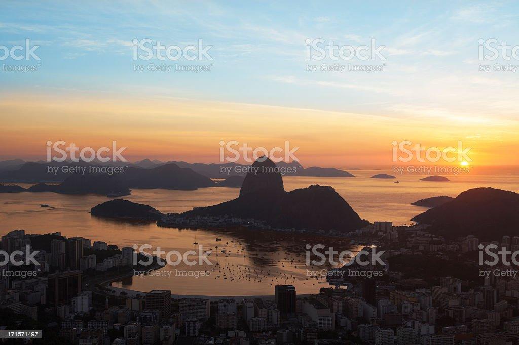 Rio de Janeiro sunrise royalty-free stock photo