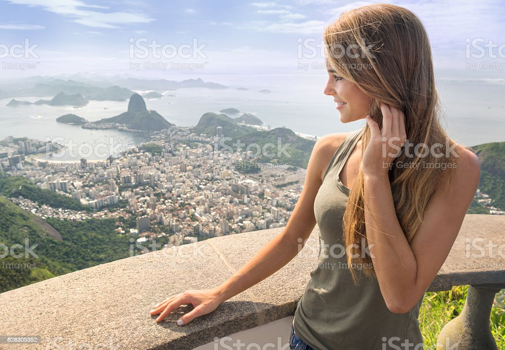 Rio de Janeiro with Sugar Loaf Mountain stock photo