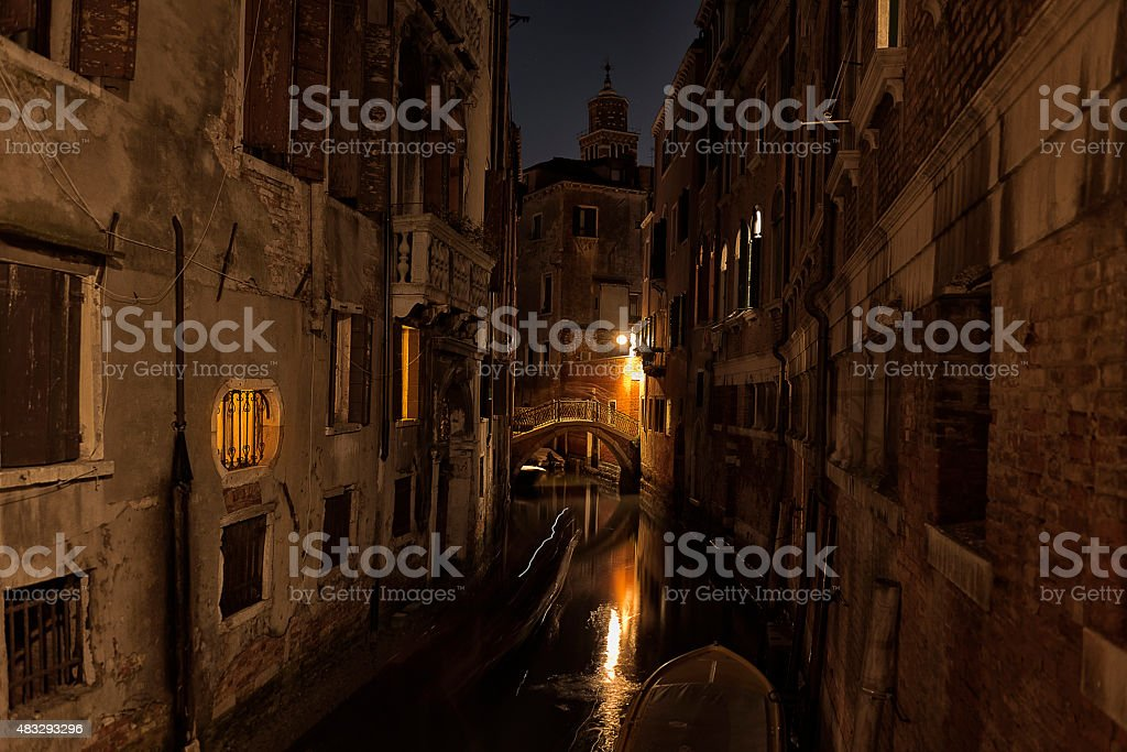 Rio della Verona canal, Venice stock photo