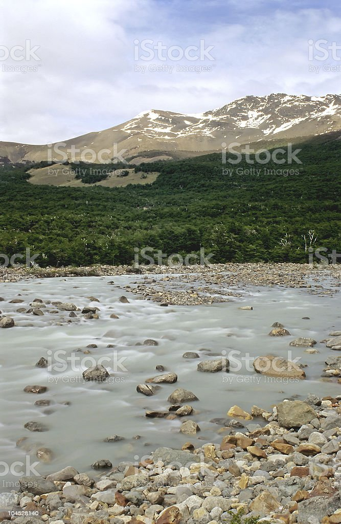 Rio Fitz Roy in Patagonia royalty-free stock photo