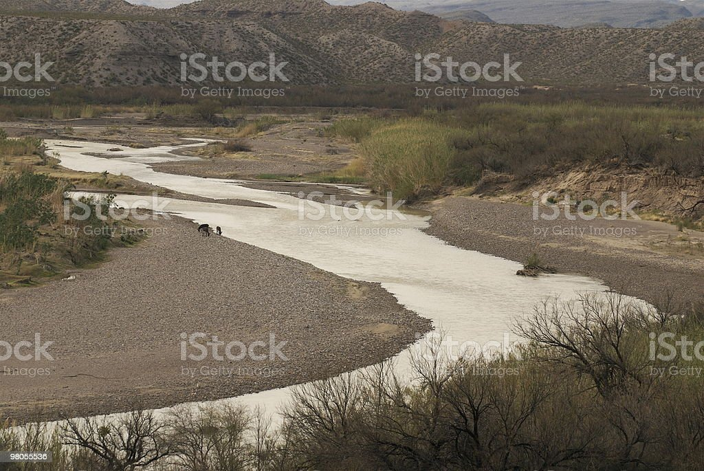 Rio Grande del Big Bend foto stock royalty-free