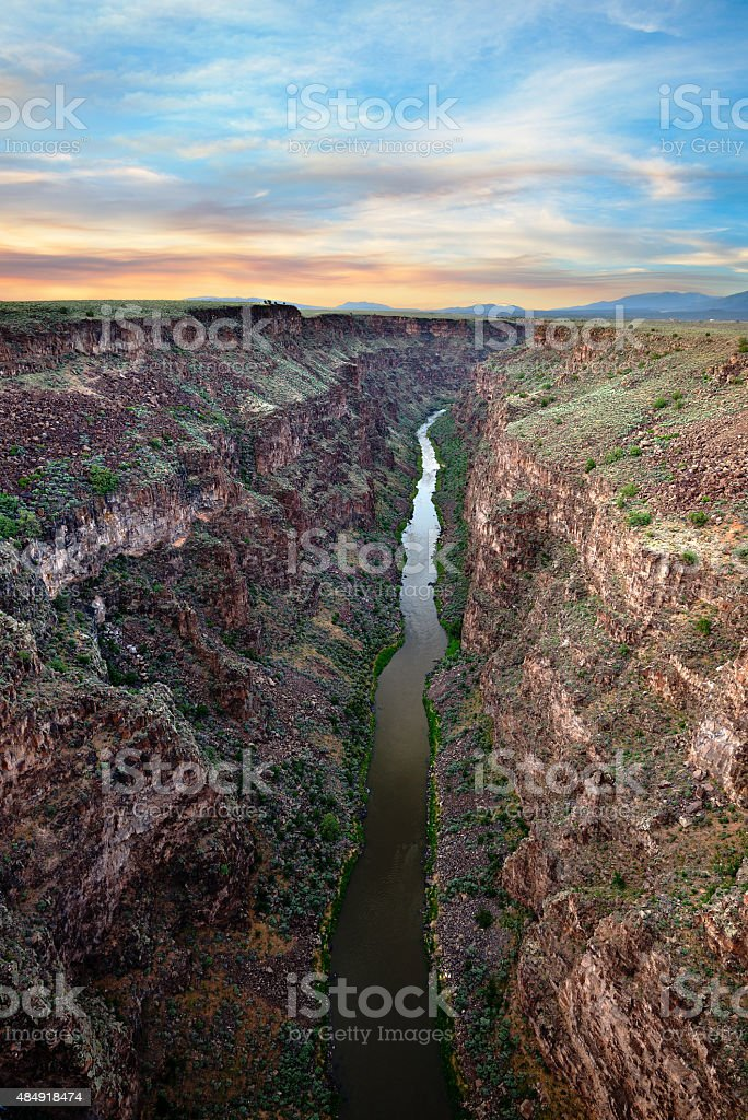 Rio Grande at Sunset stock photo