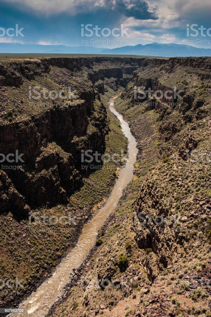 Rio Grande From Above stock photo