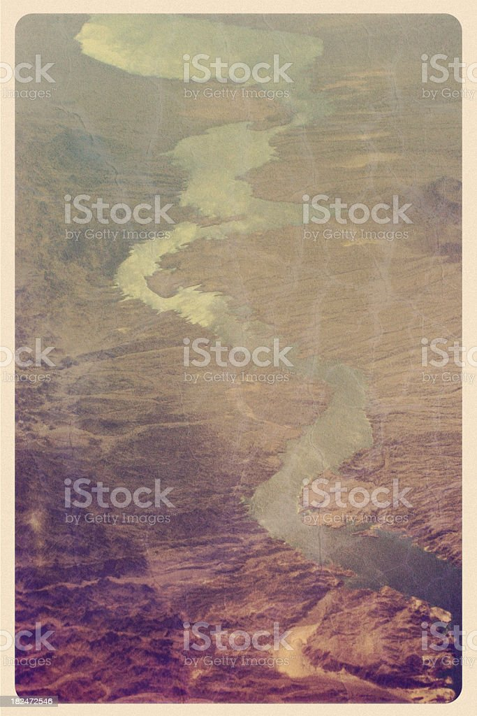 Rio Grande From Above - Vintage Postcard royalty-free stock photo