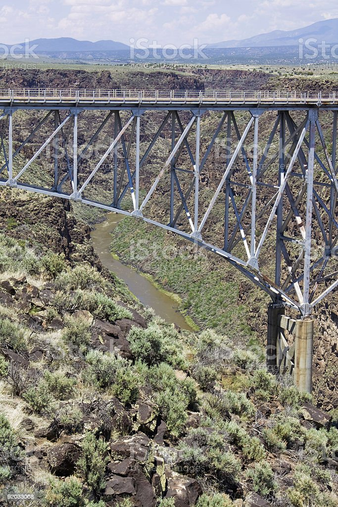 Rio Grande Gorge Bridge royalty-free stock photo