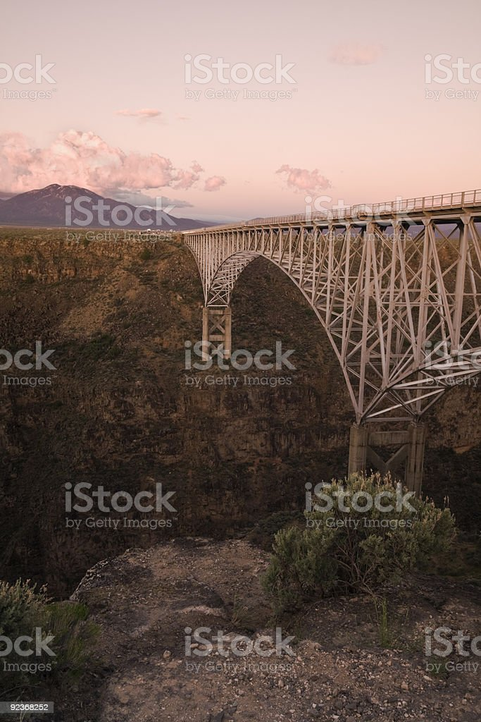 Rio Grande Gorge Bridge stock photo