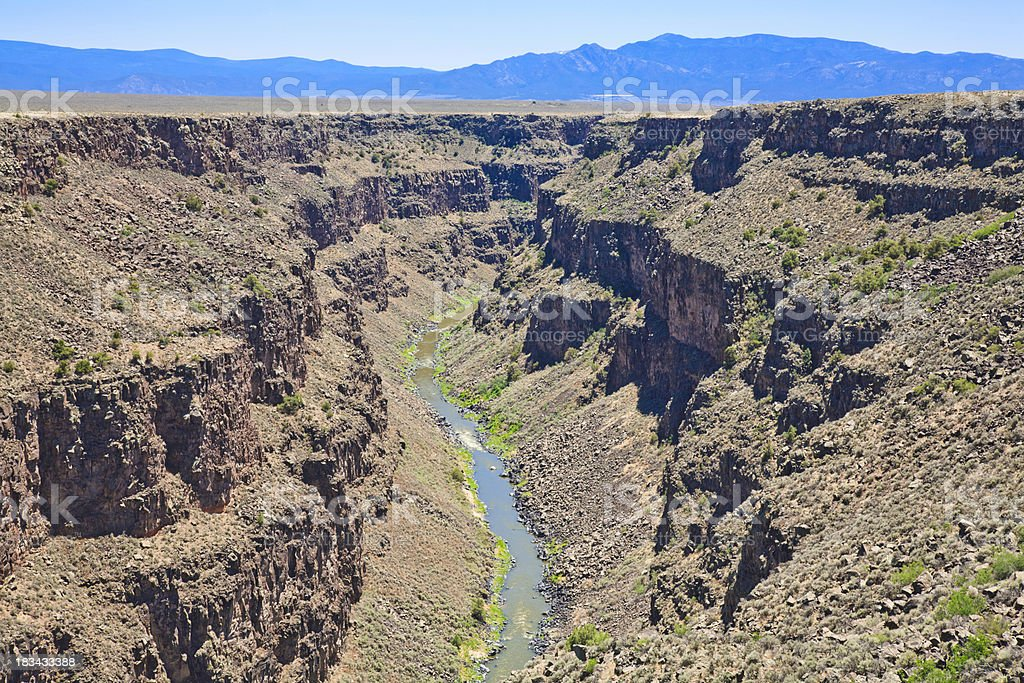 Rio Grande Gorge, New Mexico royalty-free stock photo