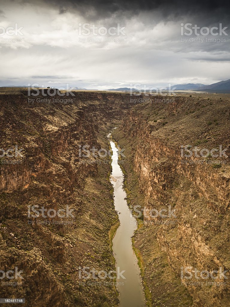 Rio Grande Gorge royalty-free stock photo