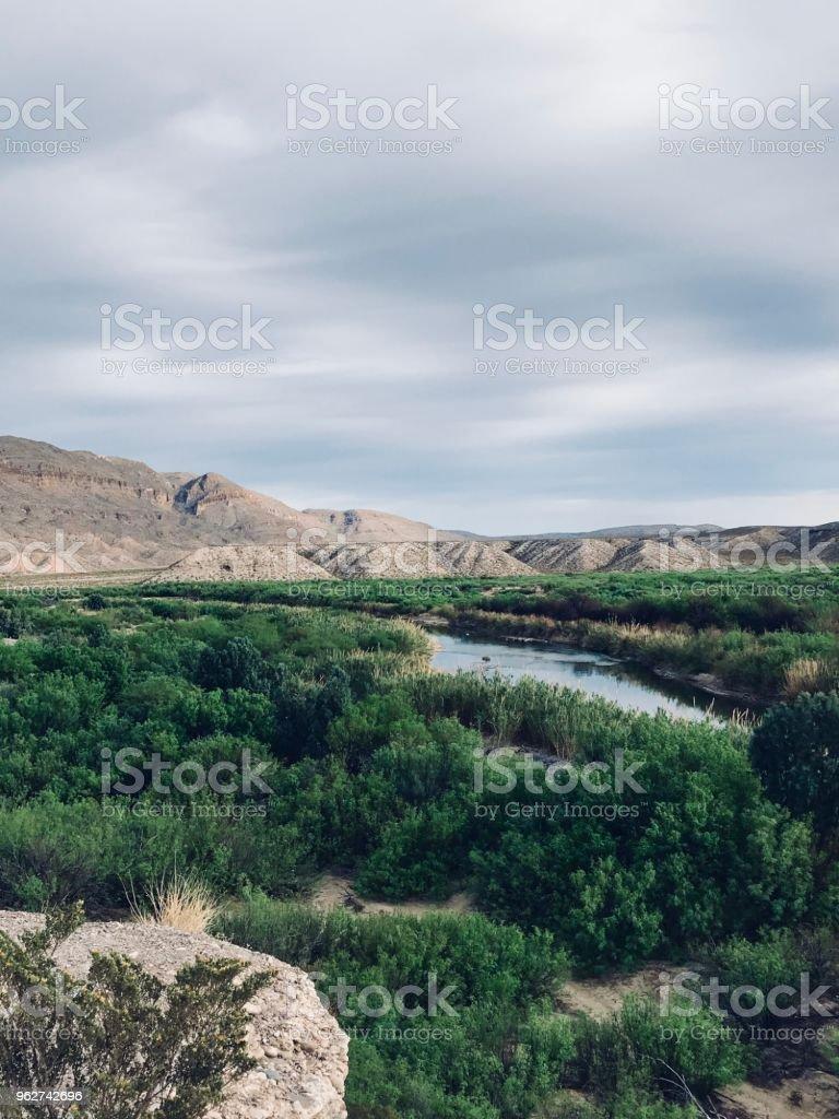 Rio Grande, no Big Bend - Foto de stock de Areia royalty-free