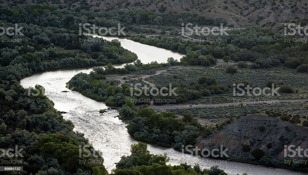 Rio Grande in New Mexico royalty-free stock photo