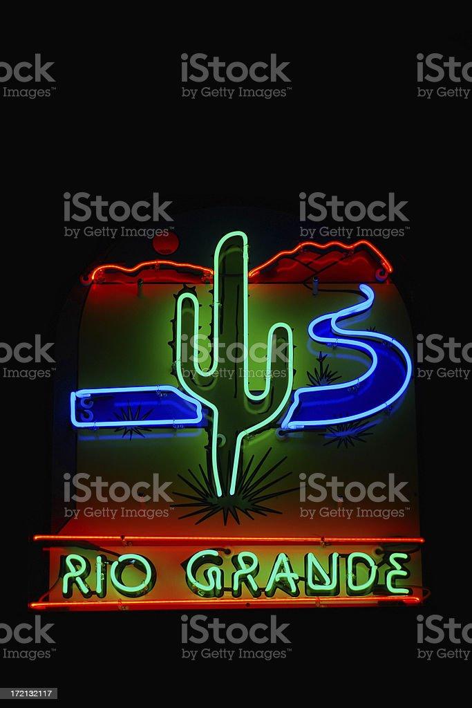 Rio Grande Neon Sign royalty-free stock photo