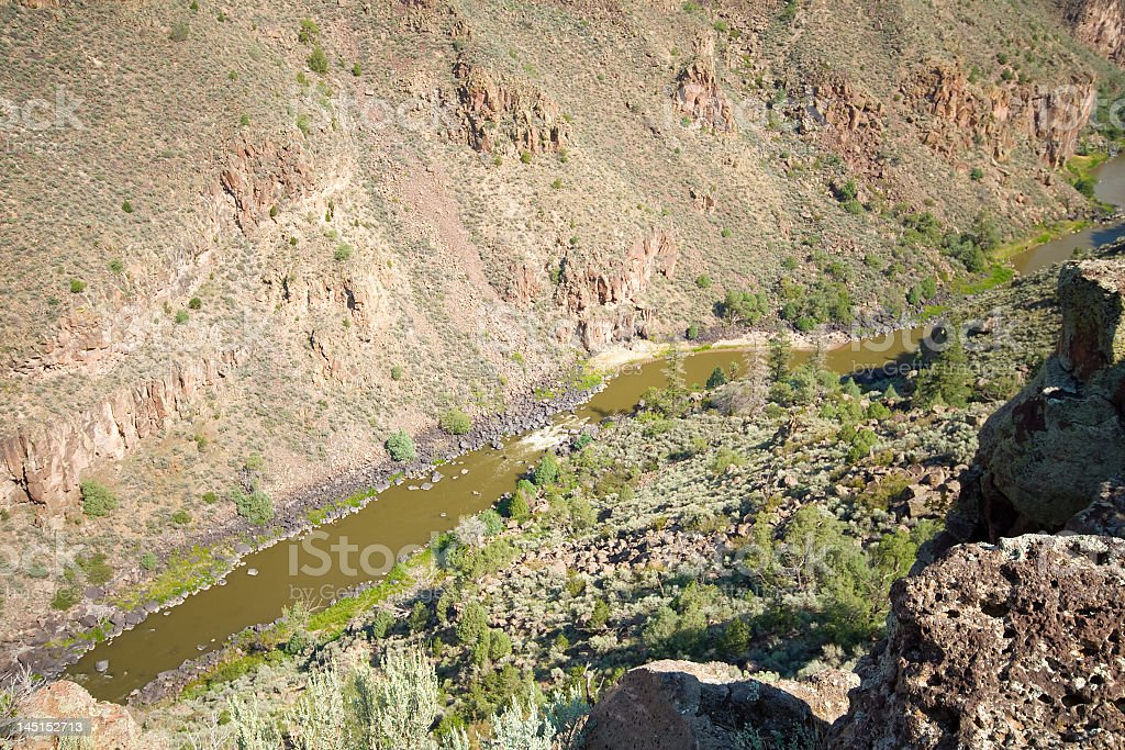 Rio Grande River Gorge, North Central New Mexico, Terminator Salvation royalty-free stock photo