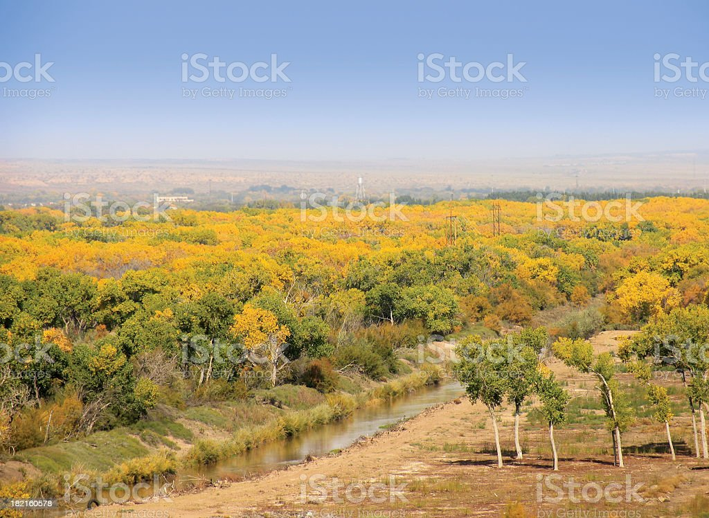 Rio Grande Valley, Autumn stock photo