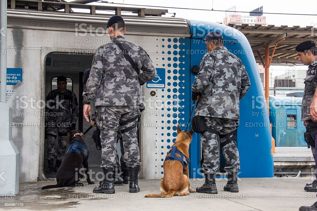 Rio holds anti terrorism training for Rio 2016 Olympic Games stock photo