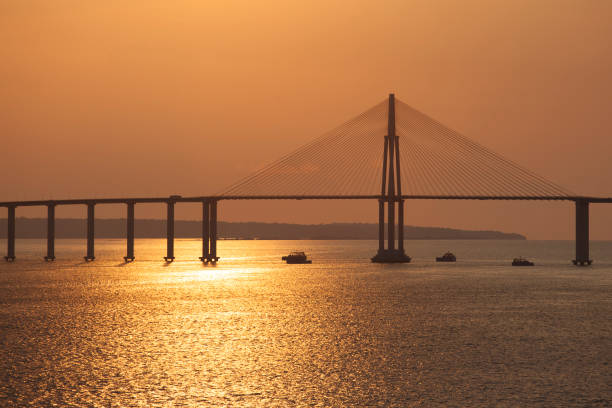 Rio Negro bridge in the amazon stock photo