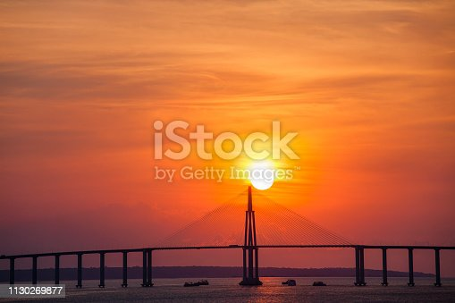 The Journalist Phelippe Daou Bridge or Rio Negro Bridge (Portuguese: Ponte Rio Negro) is a cable-stayed bridge over the Rio Negro with 3,595 metres (11,795 ft) of length that links the cities of Manaus and Iranduba in Brazil.