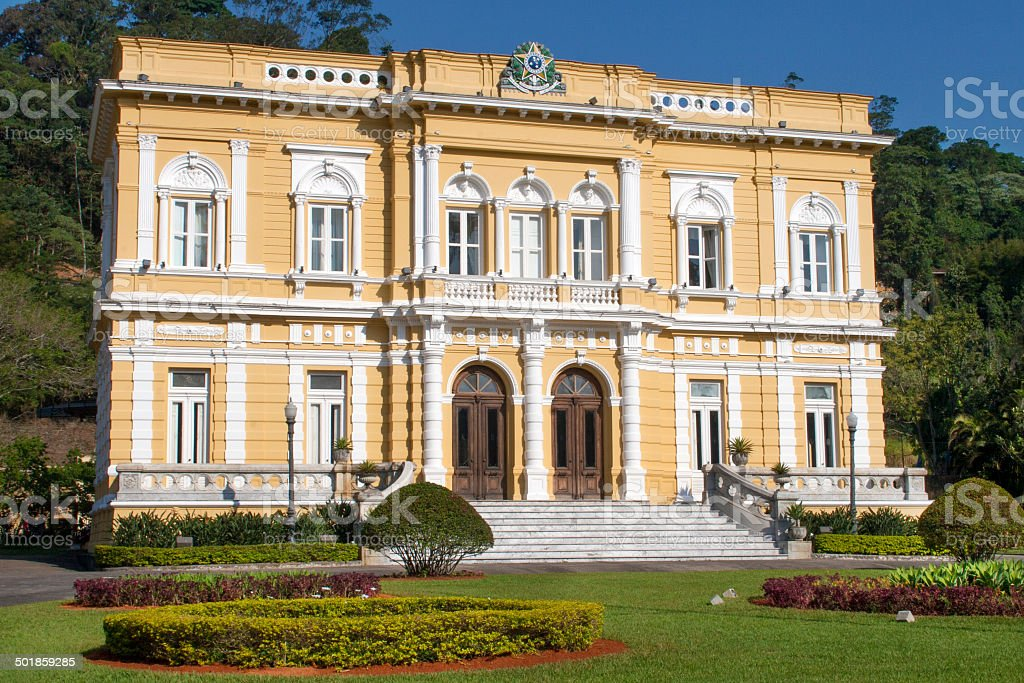 Rio Negro Palace in Petropolis royalty-free stock photo