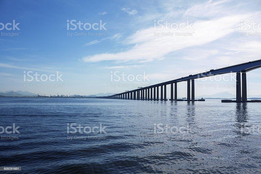 Rio Niterói Bridge stock photo