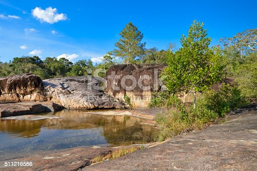 """Rio on Pools -€"""" natural pools and set of small waterfalls located in remote and hard to reach Mountain Pine Ridge Forest Reserve in Belize"""