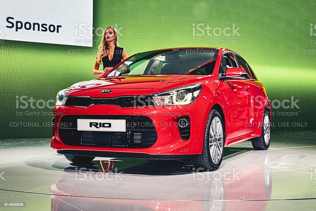 2017 KIA Rio stock photo