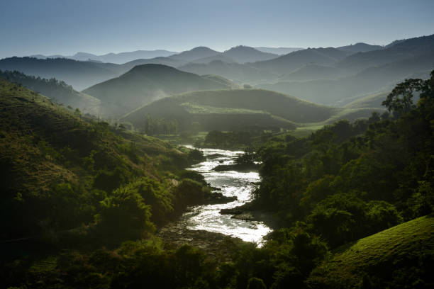 Rio Preto (Black River), Minas Gerais, Brazil stock photo