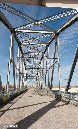 Rio Puerco Bridge, truss bridge located on historic Route 66 built in 1933, now closed, New Mexico, USA.