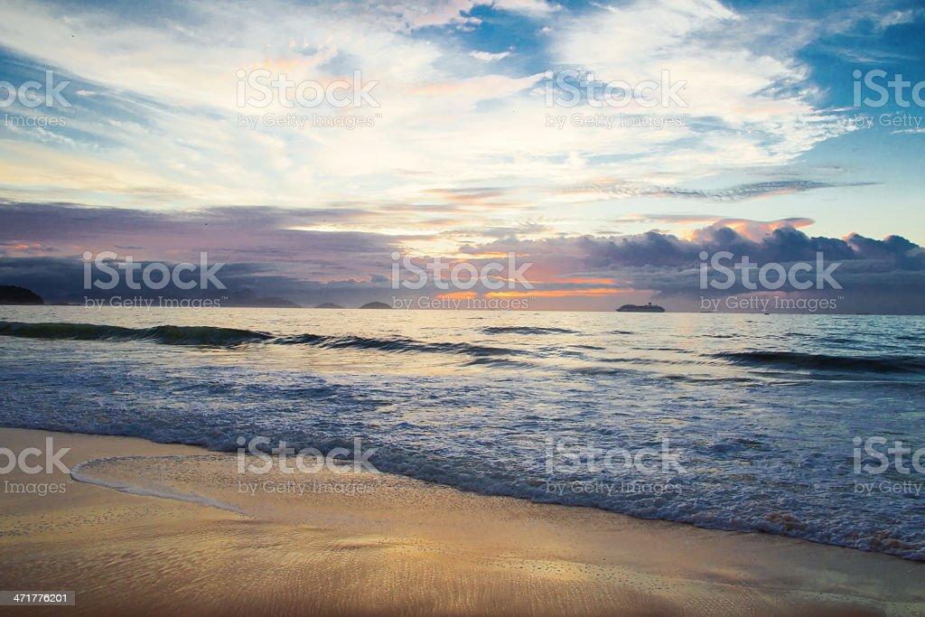 Rio Sunrise royalty-free stock photo