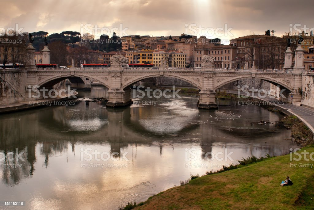 Rio Tiber stock photo