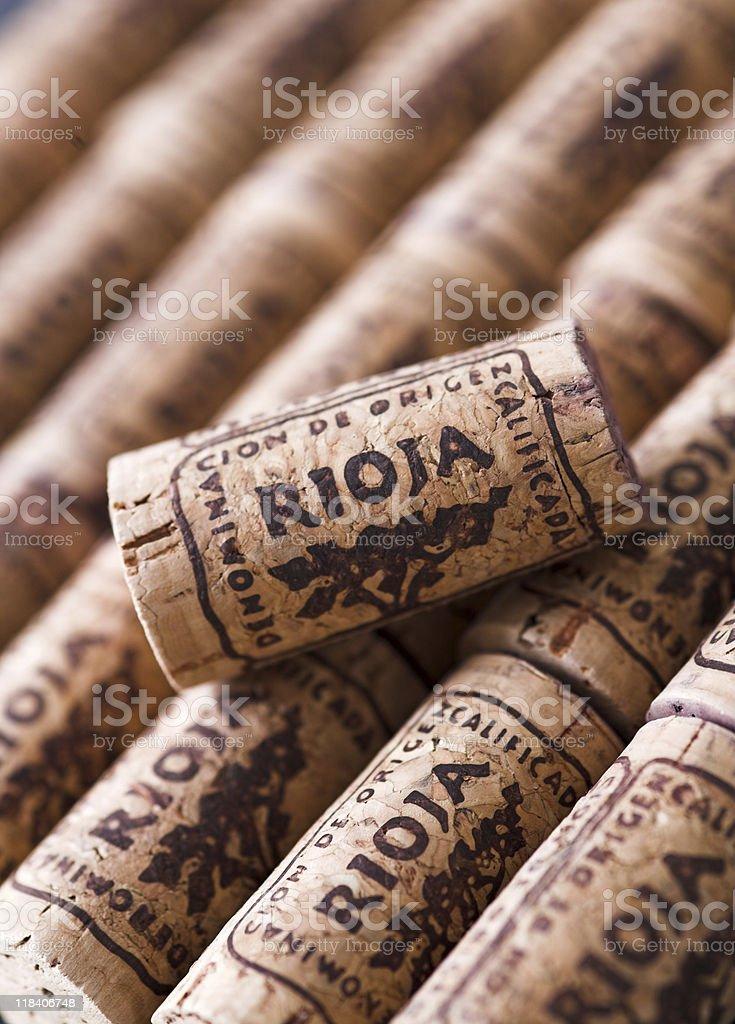 Rioja corks stock photo