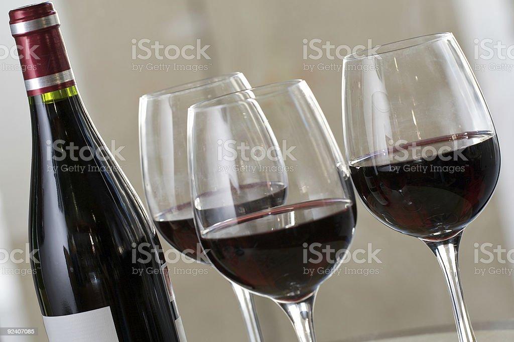 Rioja Red Wine Served royalty-free stock photo