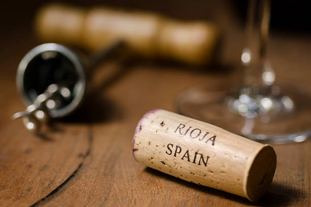Rioja Spain Wine Cork Horizontal stock photo