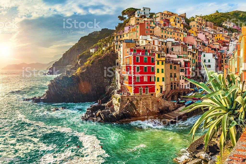 Riomaggiore, Cinque Terre, Italy stock photo