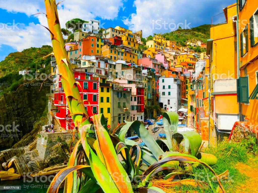 Riomaggiore, Cinque Terre National Park, Liguria, La Spezia stock photo