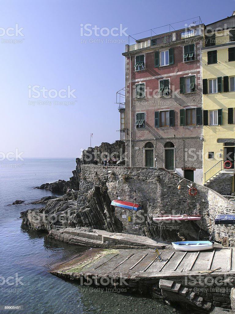 Riomaggiore Cinque Terre Sea Side Village royalty-free stock photo