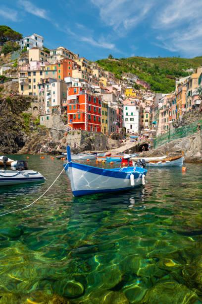 Riomaggiore coastline, Cinque Terre, Italy