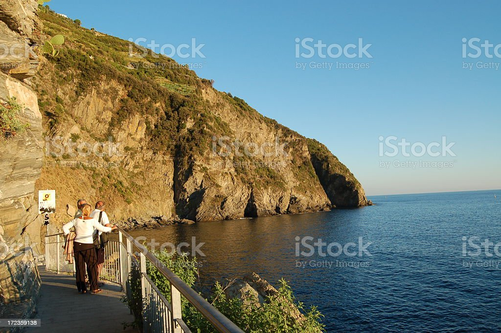 Riomaggiore Coastline royalty-free stock photo